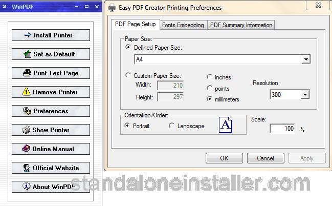 WinPDF Easy PDF Creator