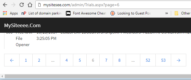 ASP Net C# Bootstrap 4 Pagination - standaloneinstaller com