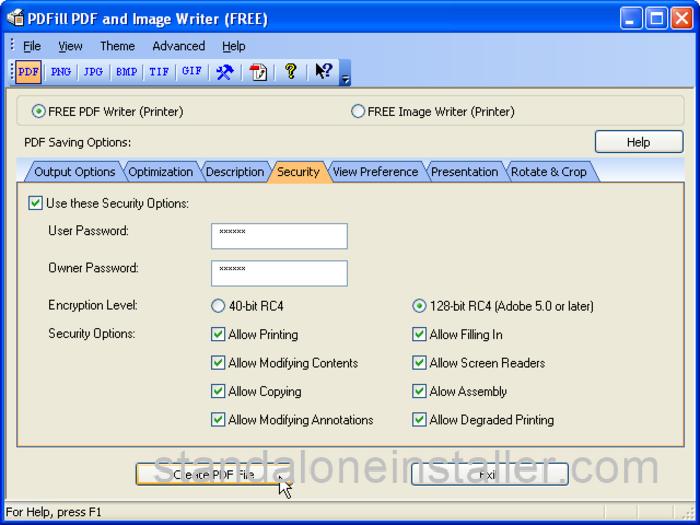 PDFill FREE PDF & Image Writer